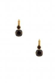 Satellite Paris | 14k vergulden oorbellen Inez | zwart  | Afbeelding 2