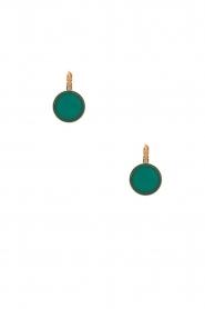 Satellite Paris | 14k vergulden oorbellen Maya | blauw  | Afbeelding 1