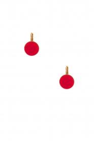 Satellite Paris | 14k vergulden oorbellen Maya | rood  | Afbeelding 2