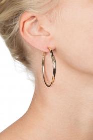 Satellite Paris | 14k verguld gouden oorbellen Verena | zwart  | Afbeelding 3