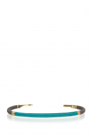 Satellite Paris | 14k vergulden armband Giana | blauw