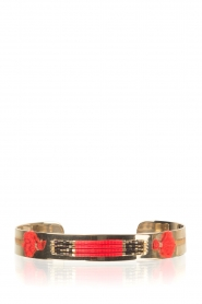 Satellite Paris |  14k gilded bracelet Adara | red  | Picture 1