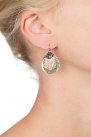 Satellite Paris |  14k gilded earrings Dena | gold  | Picture 3
