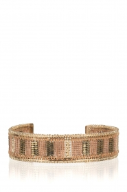 Satellite Paris |  Gold gilded bracelet Tsinga | gold  | Picture 1