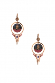Satellite Paris |  14k gilded gold earrings Theresia | bordeaux  | Picture 1