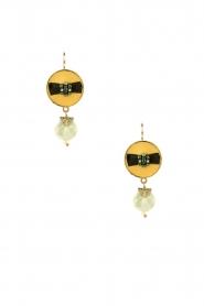 Satellite Paris |  14k gilded earrings Jade | green  | Picture 2