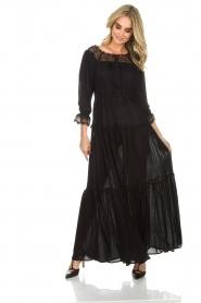 ELISABETTA FRANCHI | Maxi-jurk Gwen | zwart  | Afbeelding 2