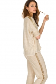 Not Shy |  Linen top Lucie | beige  | Picture 4