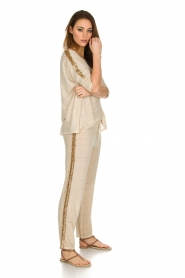 Not Shy |  Linen top Lucie | beige  | Picture 3