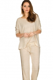 Not Shy |  Linen top Lucie | beige  | Picture 2
