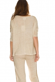 Not Shy |  Linen top Lucie | beige  | Picture 6