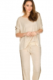 Not Shy |  Linen top Lucie | beige  | Picture 5