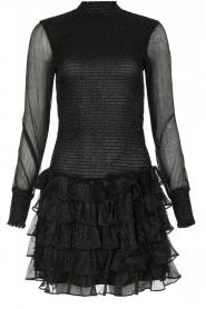 NIKKIE | Metallic jurk Reaghan | zwart  | Afbeelding 1
