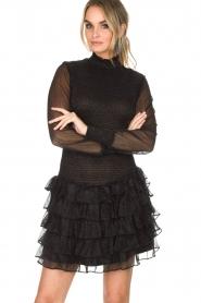 NIKKIE | Metallic jurk Reaghan | zwart  | Afbeelding 2