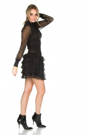 NIKKIE |  Metallic dress Reaghan | black  | Picture 3
