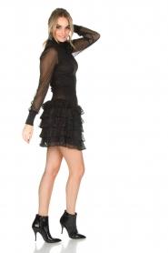 NIKKIE | Metallic jurk Reaghan | zwart  | Afbeelding 3