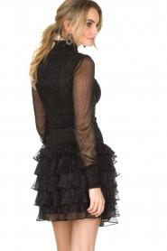 NIKKIE | Metallic jurk Reaghan | zwart  | Afbeelding 5