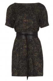 IKKS | Camouflageprint jurk met leren riem Armée | groen  | Afbeelding 1