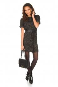 IKKS | Camouflageprint jurk met leren riem Armée | groen  | Afbeelding 3