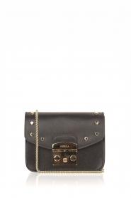 Furla | Leren tas Metropolis Mini met verwisselbare flap Play e1| zwart  | Afbeelding 1