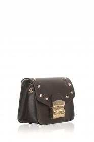 Furla | Leren tas Metropolis Mini met verwisselbare flap Play e1| zwart  | Afbeelding 3