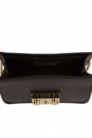 Furla | Leren tas Metropolis Mini met verwisselbare flap Play e1| zwart  | Afbeelding 5