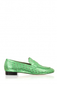 Toral |  Loafer with golden studs Videl | green  | Picture 1