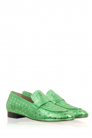 Toral |  Loafer with golden studs Videl | green  | Picture 3