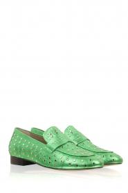 Toral | Loafer met gouden studs Videl | groen  | Afbeelding 3