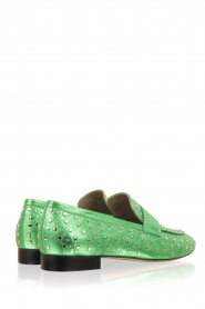 Toral |  Loafer with golden studs Videl | green  | Picture 4