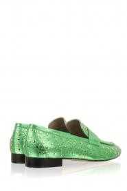 Toral | Loafer met gouden studs Videl | groen  | Afbeelding 4