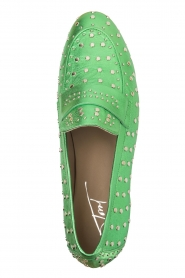Toral |  Loafer with golden studs Videl | green  | Picture 5