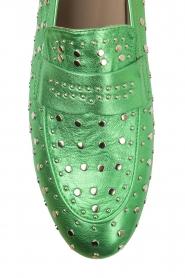 Toral | Loafer met gouden studs Videl | groen  | Afbeelding 6