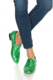 Toral |  Loafer with golden studs Videl | green  | Picture 2