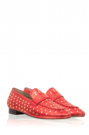 Toral |  Loafer with golden studs Videl | red  | Picture 3