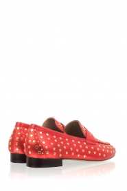 Toral |  Loafer with golden studs Videl | red  | Picture 4