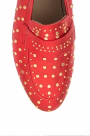 Toral |  Loafer with golden studs Videl | red  | Picture 6
