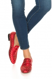 Toral |  Loafer with golden studs Videl | red  | Picture 2