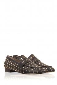 Toral | Loafer met gouden studs Videl | zwart  | Afbeelding 3