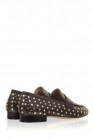 Toral | Loafer met gouden studs Videl | zwart  | Afbeelding 4
