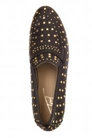 Toral | Loafer met gouden studs Videl | zwart  | Afbeelding 5