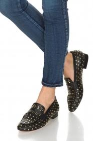 Toral | Loafer met gouden studs Videl | zwart  | Afbeelding 2