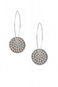 Close to Zen | 925 sterling zilveren oorbellen Down The Earth | Zilver  | Afbeelding 1