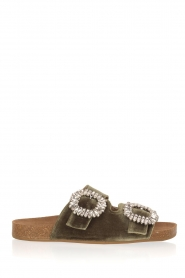 Toral |  Velvet sandals Adana | Green  | Picture 1