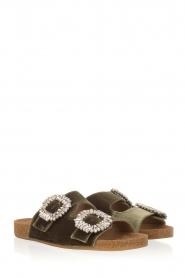 Toral |  Velvet sandals Adana | Green  | Picture 3