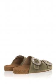 Toral |  Velvet sandals Adana | Green  | Picture 4