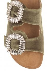 Toral |  Velvet sandals Adana | Green  | Picture 6