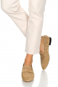 Toral | Loafers met gouden studs Alisa | zand  | Afbeelding 2