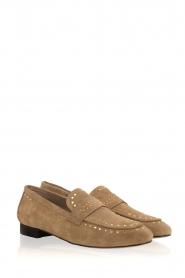 Toral | Loafers met gouden studs Alisa | zand  | Afbeelding 3