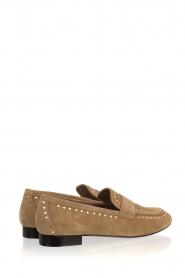 Toral | Loafers met gouden studs Alisa | zand  | Afbeelding 4